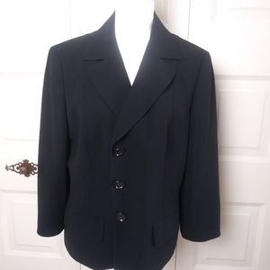 Ann Taylor Women's Black Blazer Size 16